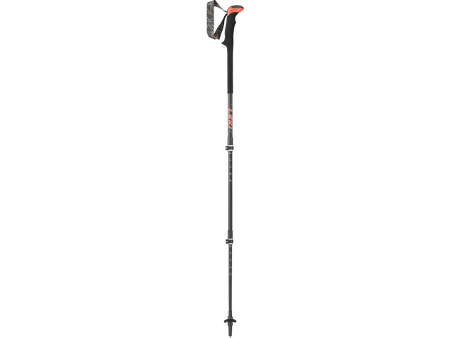 LEKI Carbon TA XTG Bastones de Trekking, black/white/anthracite/red